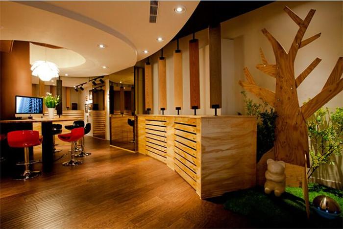 原木气质 木地板建材有限公司办公设计图片