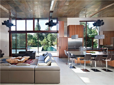 尺寸别墅现代溪边欣赏效果图设计双层规范门窗别墅图片